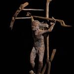 79-mattia-trotta-artista-sculture-filo-metallico-ferro-arte-sacra-tito-Il-buon-ladrone-The-good-Thief